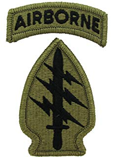 army SFC patch looks a bit like a sword in a butt plug being struck by lightning. Under the Airborne patch, of course.