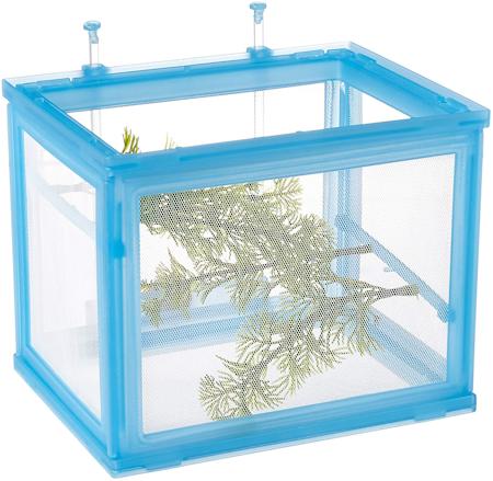 plastic-framed mesh playpen for baby fishes